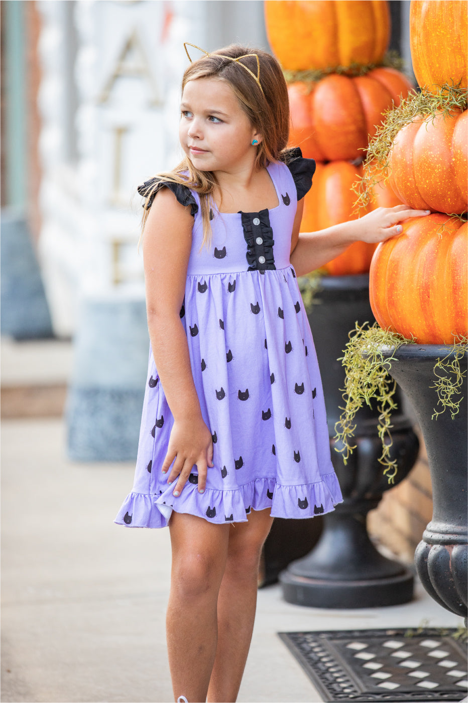Callie Dress - Black Cat - Madison Grace Clothing