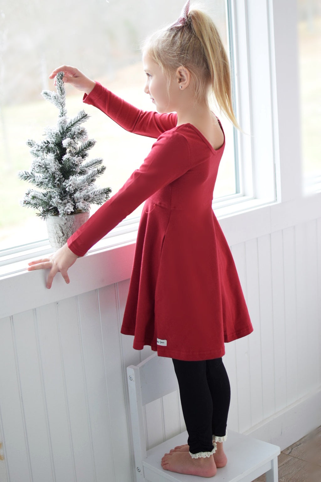 Cranberry Avery Dress - Madison Grace Clothing