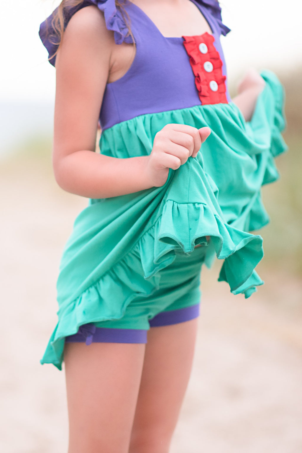 Ariel Inspired Simple Shorties - Madison Grace Clothing