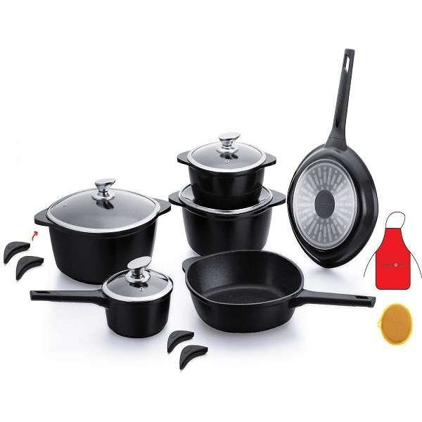 royalty line set  Royalty Line 16 Pieces Marble Coating Cookware Set (Free Delivery)