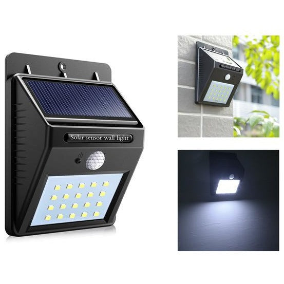 Solar Powered 20 Led Bright Motion Sensor Light