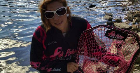 Crystal Coley With Pink Fishing Net
