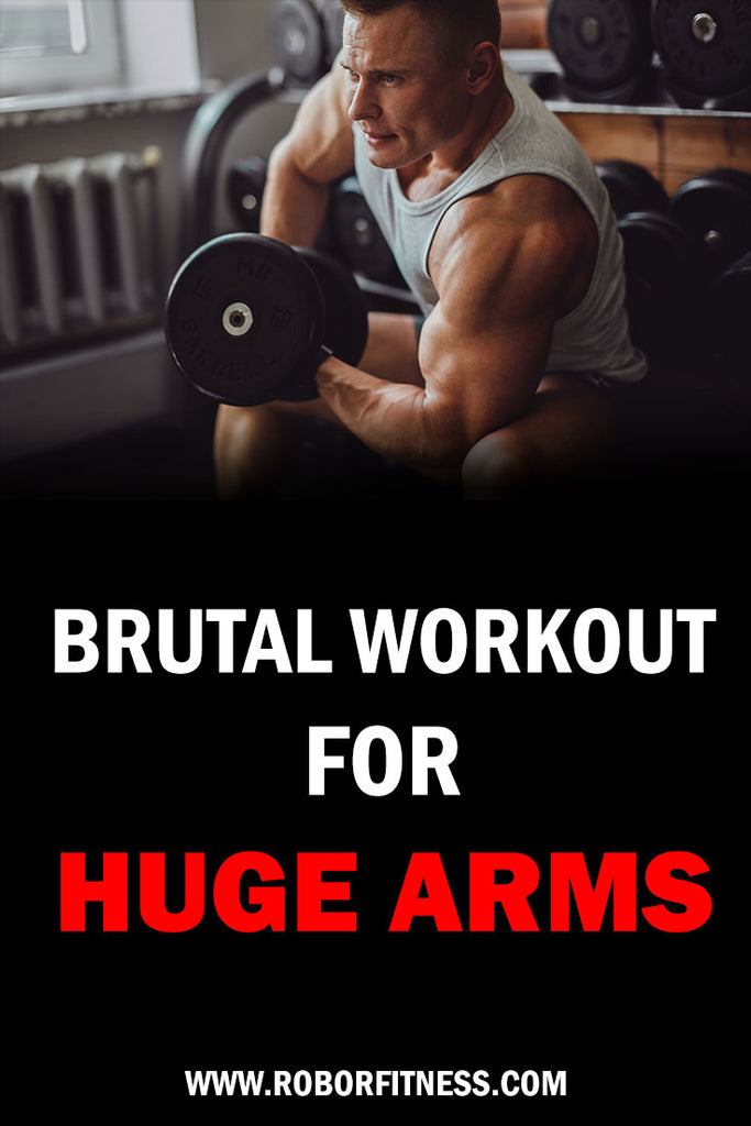 Brutal arm workout to maximise muscle mass