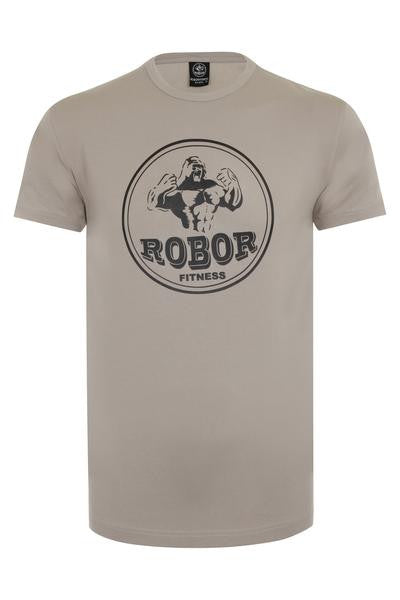 a4fca5035e13c ... Elite Fitted Tee - Fossil Grey; Arm Hugging Gym T-Shirt - Grey 1
