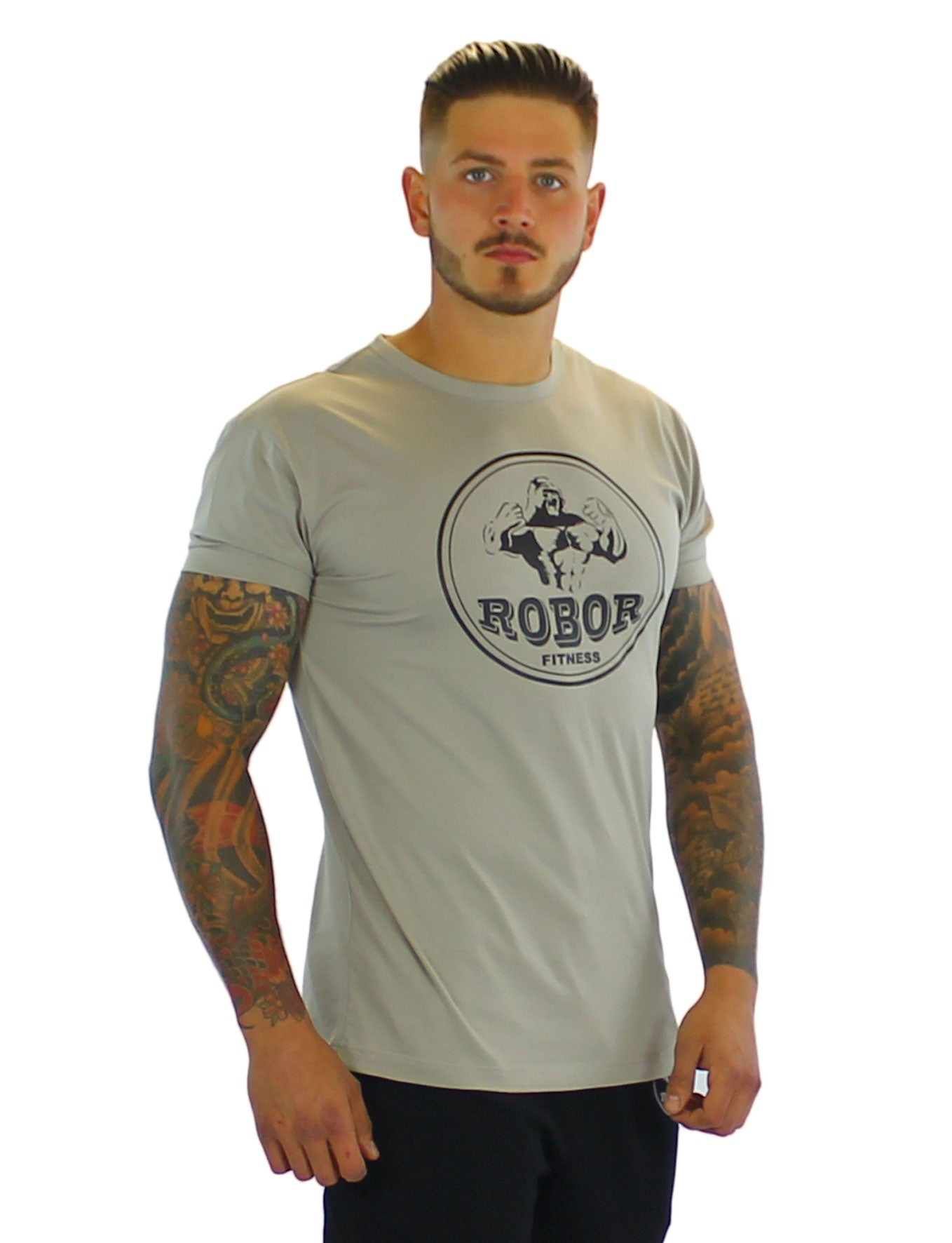 d977a7488 Mens Fitness T-Shirts | Muscle Fit T-Shirts | Arm Hugging | - Robor ...