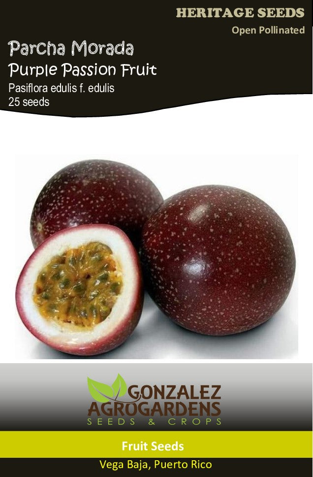 Passiflora Edulis Parcha Roja Red Passion Fruit 25 Seeds Gonzalez Agrogardens