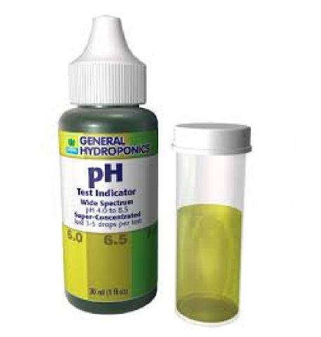 General Hydroponics pH solution tester 1oz