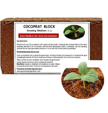 Growing Medium: Cocopeat 15oz Block