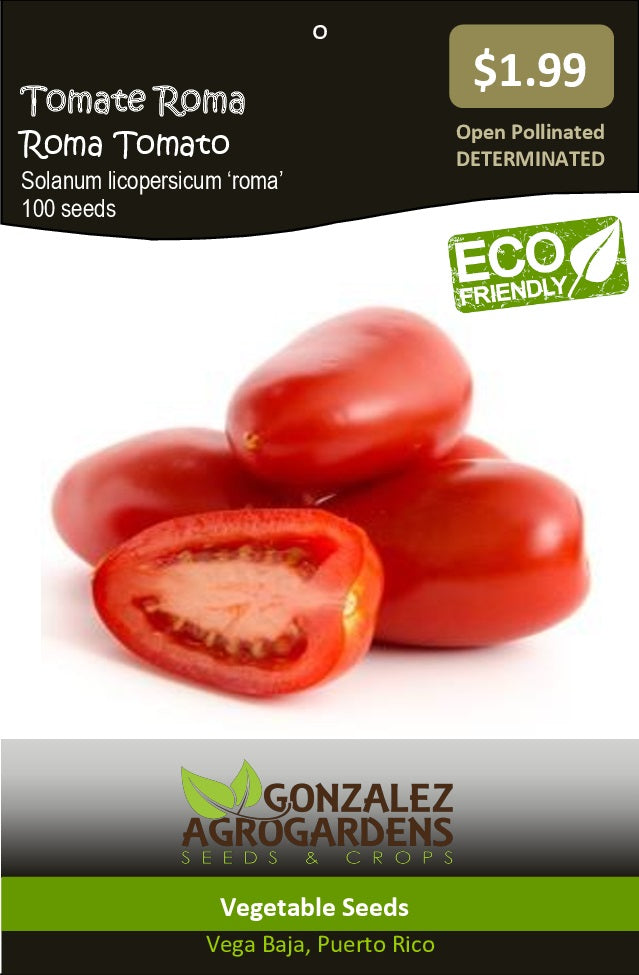 Tomato: Roma Tomato Seeds Packet