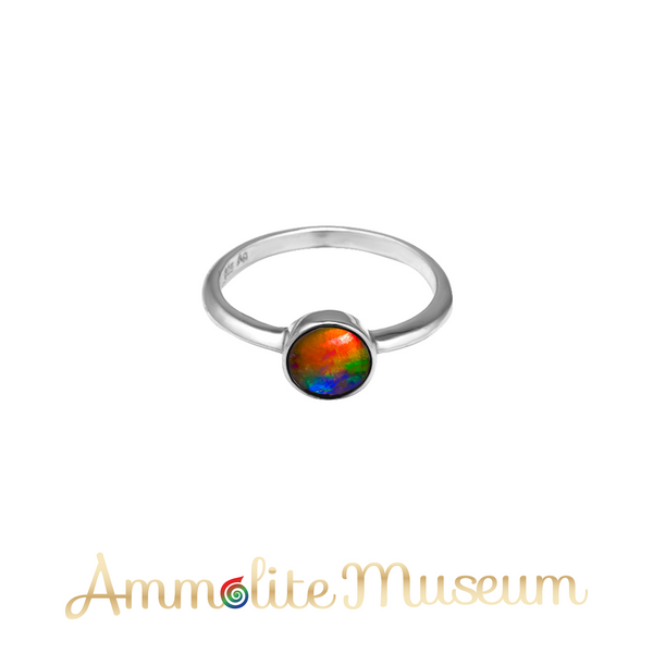 Aurora 6mm Sterling Silver Round Ring
