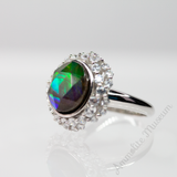 Aurora Sterling Silver Ring with Swarovski Crystals