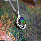 Harmony Sterling Silver Ammolite Pendant (S)