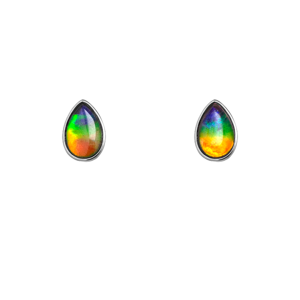 Teardrop Sterling Silver Stud Earring
