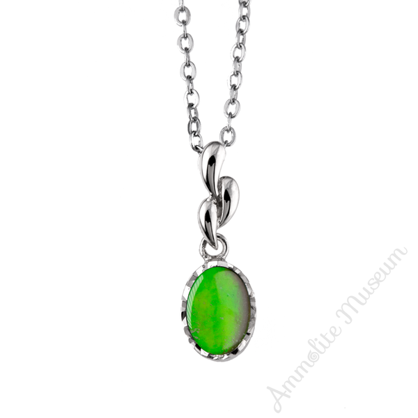 Tri Droplet Sterling Silver Ammolite Pendant