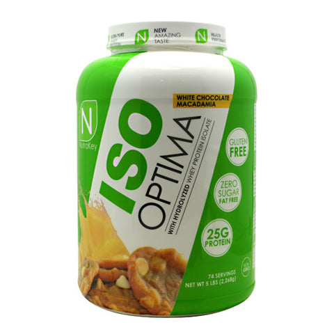 Nutrakey Iso Optima - White Chocolate Macadamia - 5 lb - 851090006423