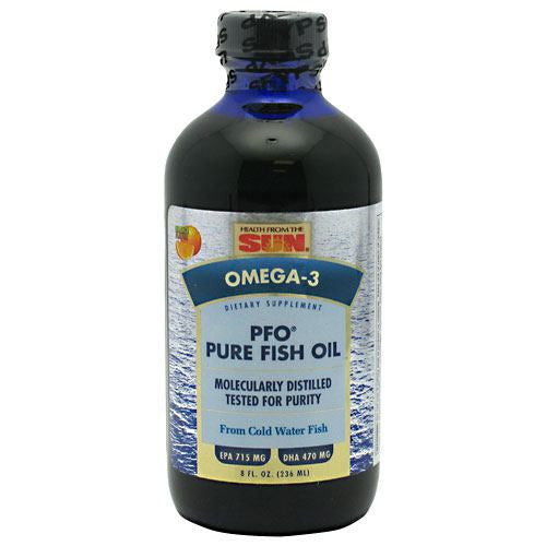 Health From The Sun PFO Pure Fish Oil Liquid - Natural Juicy Orange - 8 oz - 010043051747