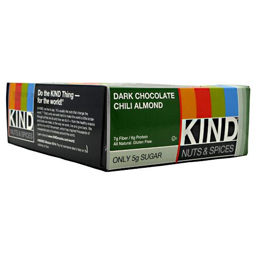 Kind Snacks Kind Nuts & Spices - Dark Chocolate Chili Almond - 12 Bars - 602652171932