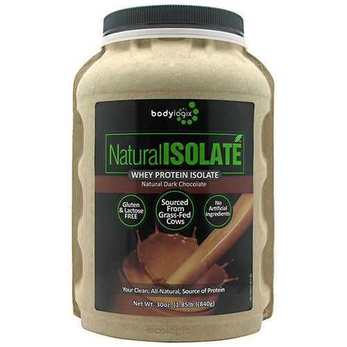 BodyLogix Natural Isolate Whey Protein Isolate - Natural Dark Chocolate - 1.85 lb - 694422031379
