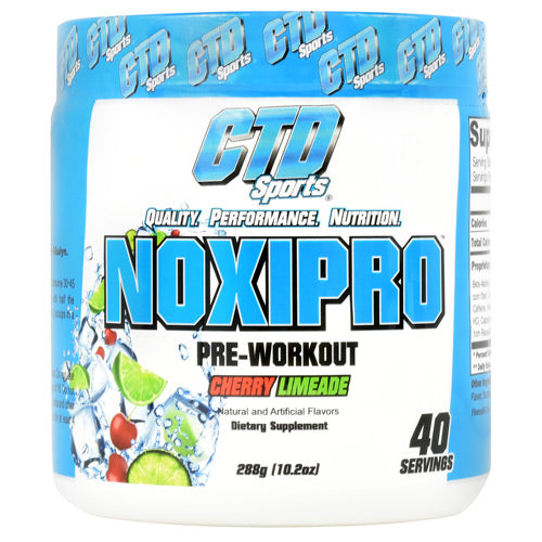 Noxipro Pre-Workout Cherry Limeade | CTD Labs 40 Servings -
