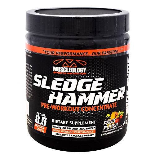 Muscleology Sledgehammer - Fruit Punch - 30 Servings - 829263114138