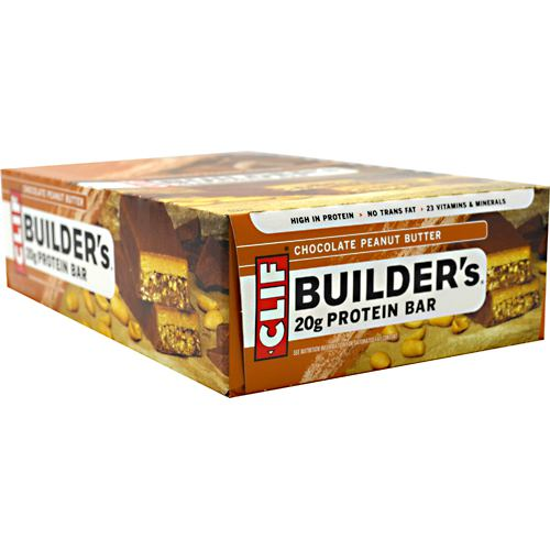 Clif Bar Builders Cocoa Dipped Double Decker Crisp Bar - Chocolate Peanut Butter - 12 Bars - 722252600417