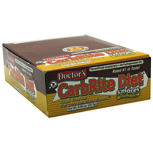 Universal Nutrition Doctors CarbRite Sugar Free Bar - Smores - 12 Bars - 039442081544