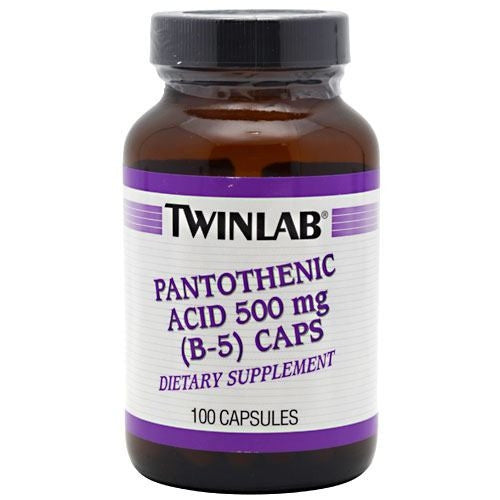 TwinLab Pantothenic Acid (B-5) Caps - Supps360.com