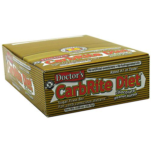 Universal Nutrition Doctors CarbRite Sugar Free Bar - Chocolate Peanut Butter - 12 Bars - 039442081391