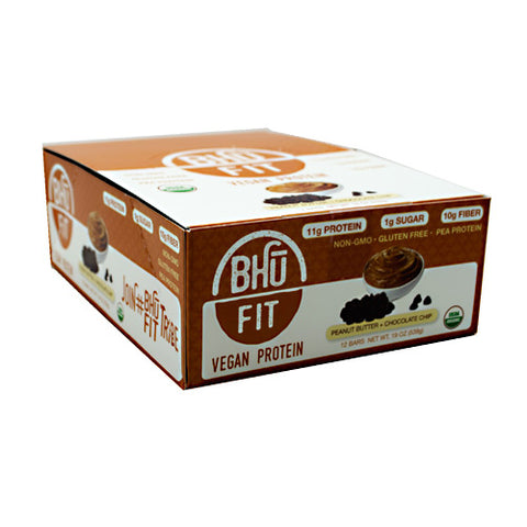 Bhu Foods BHU FIT BHU Fit Vegan Protein - Peanut Butter Chocolate Chip - 12 Bars - 867936000173