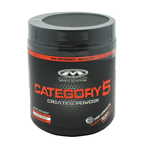 Category 5 Creatine Powder - Muscleology - Pink Lemonade