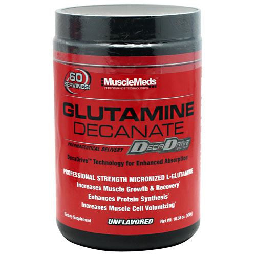 Muscle Meds Glutamine Decanate - Unflavored - 10.58 oz - 891597002610