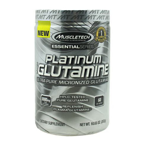MuscleTech Essential Series 100% Platinum Glutamine - Unflavored - 60 ea - 631656705706