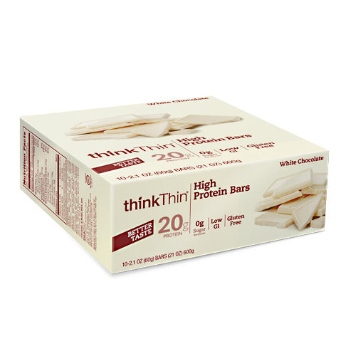 Think Products Think Thin Bar - White Chocolate - 10 Bars - 753656706368