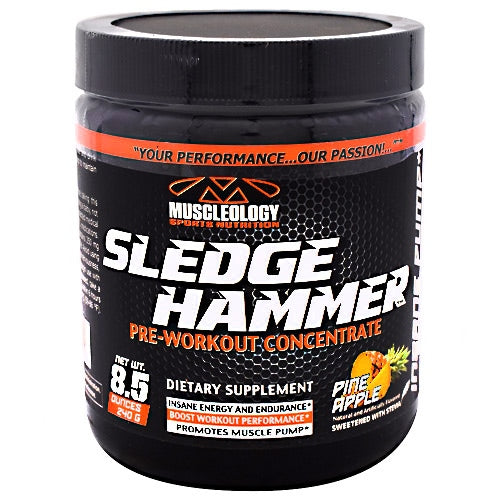 Muscleology Sledgehammer - Pineapple - 30 Servings - 829263411121
