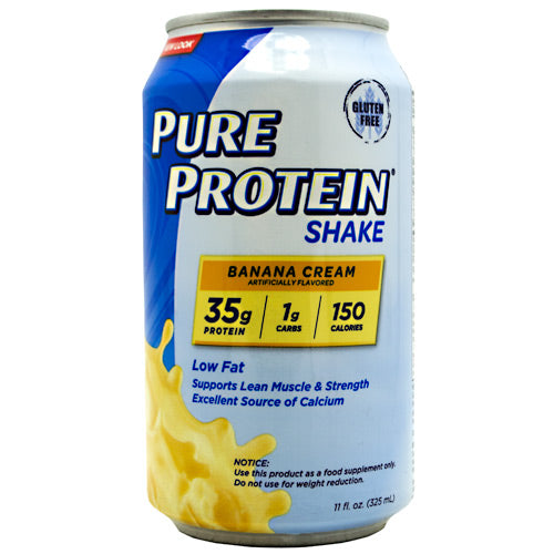 Pure Protein Pure Protein Shake - Banana Cream - 12 Cans - 00749826004396