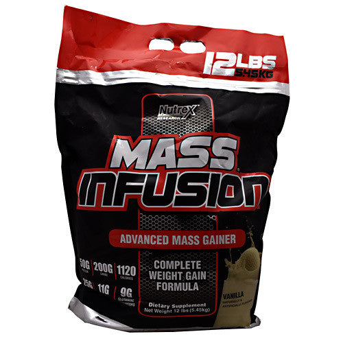 Buy online Nutrex Research Mass Infusion - Vanilla - 12 lb