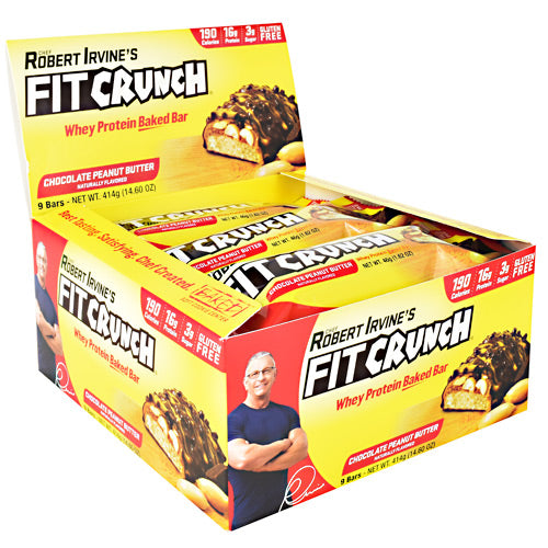 Fit Crunch Bars Fit Crunch Bar - Chocolate Peanut Butter - 9 Bars - 817719020614
