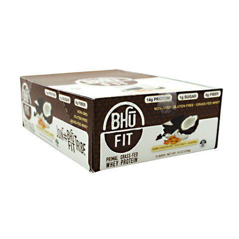 Bhu Foods BHU FIT BHU Fit Primal Protein - Dark Chocolate Coconut Almond - 12 Bars - 867936000180