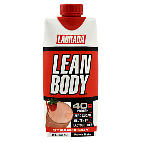 Lean Body RTD Protein Shake- Strawberry - Labrada Nutrition