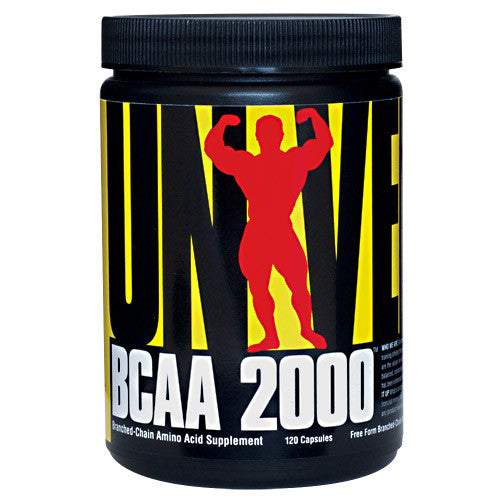 Universal Nutrition BCAA 2000 - 120 Capsules - 039442045447
