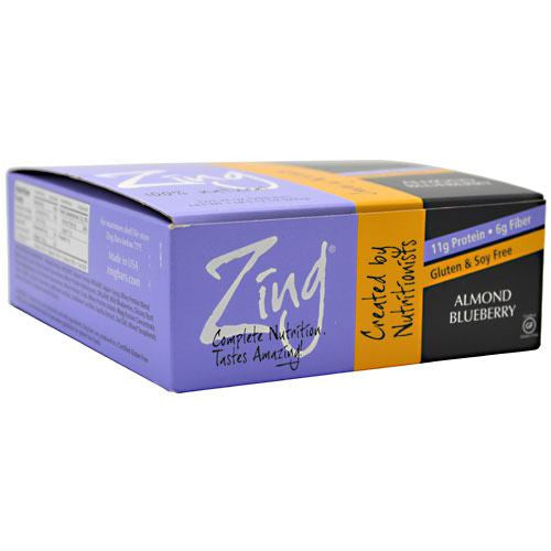 Zing Zing Bar - Almond Blueberry - 12 Bars - 855531002081