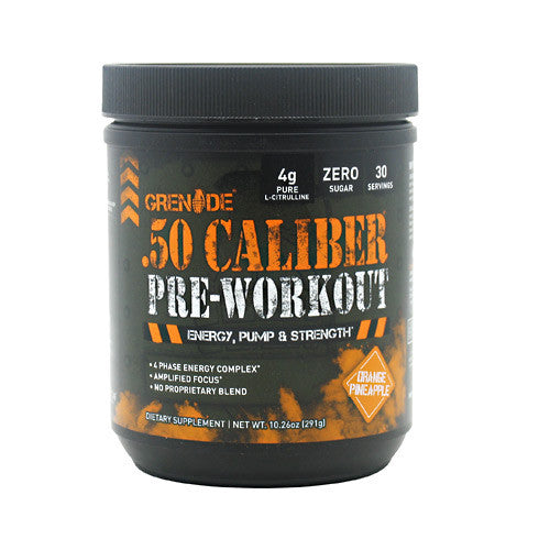 Grenade USA .50 Caliber Pre-Workout - Orange Pineapple - 10.26 oz - 847534000980