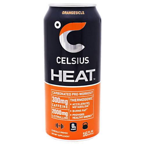 Celsius Heat  Orangesicle Energy Drink - 12 Cans