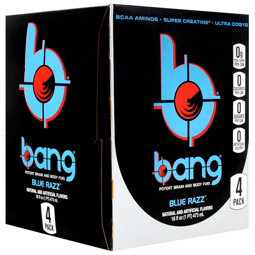 Bang Energy Drink Blue Razz Flavor |  VPX 24 Cans -