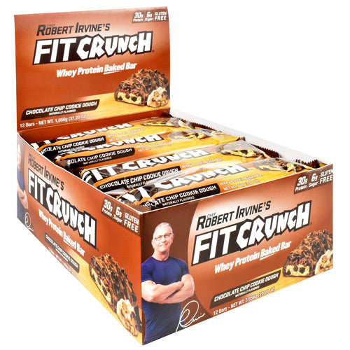 Fit Crunch Bars Fit Crunch Bar - Chcolate Chip Cookie Dough - 12 Bars - 839138002644