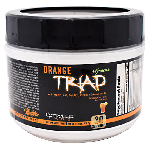 Controlled Labs Orange Triad + Greens - Lemon Ice Tea - 30 Servings - 856422005679