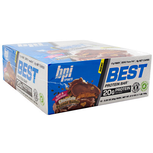 BPI Best Protein Bar - Chocolate Peanut Butter - 12 Bars - 811213024819