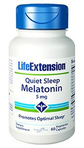 Quiet Sleep Melatonin | 5 mg, 60 vegetarian capsules