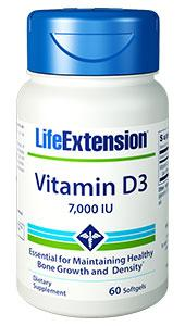 Vitamin D3 | 7,000 IU, 60 softgels | Life Extension
