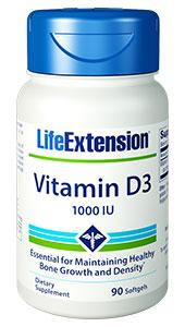 Vitamin D3 | 1,000 IU, 90 softgels | Life Extension